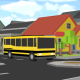 blocky city school bus parker
